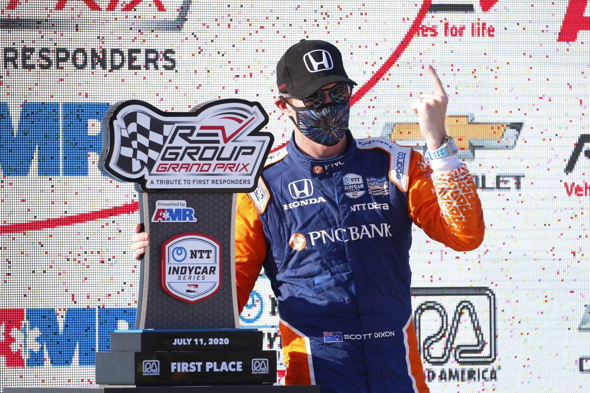 Dixon, Honda Now Three for Three with Road America Victory
