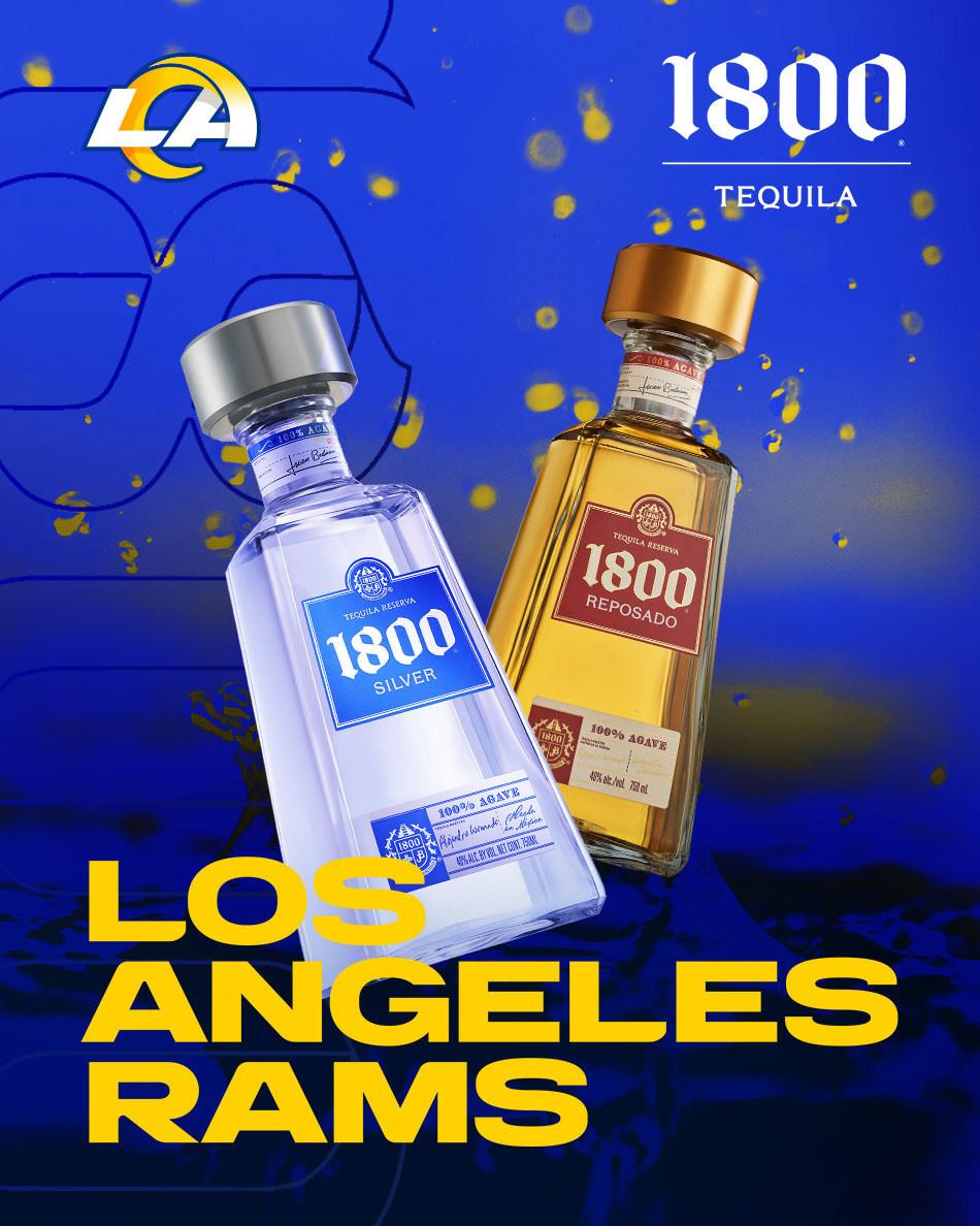 Nombraron al Tequila 1800 como el tequila oficial de Los Angeles Rams