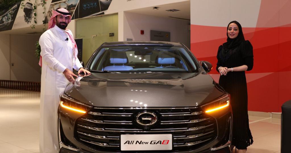 GAC MOTOR presenta su flamante y lujoso modelo insignia GA8 en el Reino de Arabia Saudita