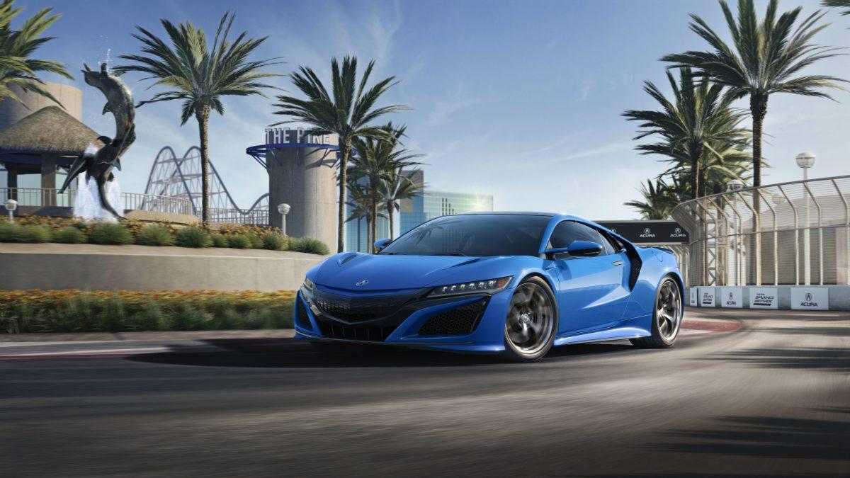 El Acura NSX celebra los deportes a motor y la historia con el color Long Beach Blue Pearl