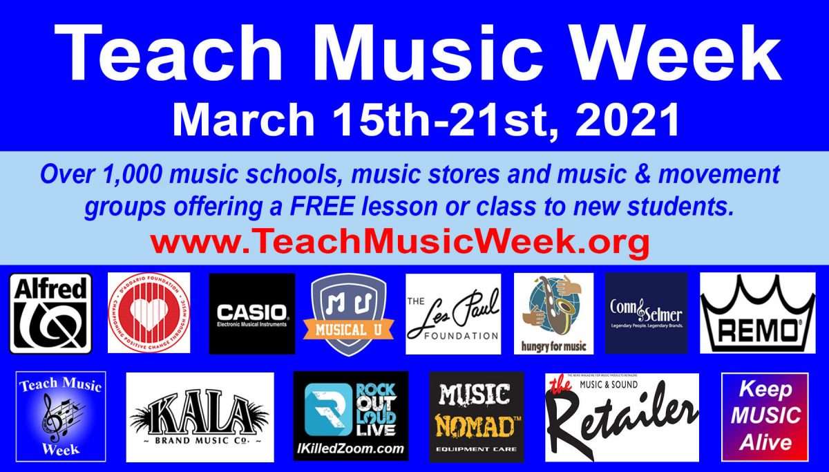 FREE Music Lessons to Celebrate 7th Annual Teach Music Week – 1000+ Locations