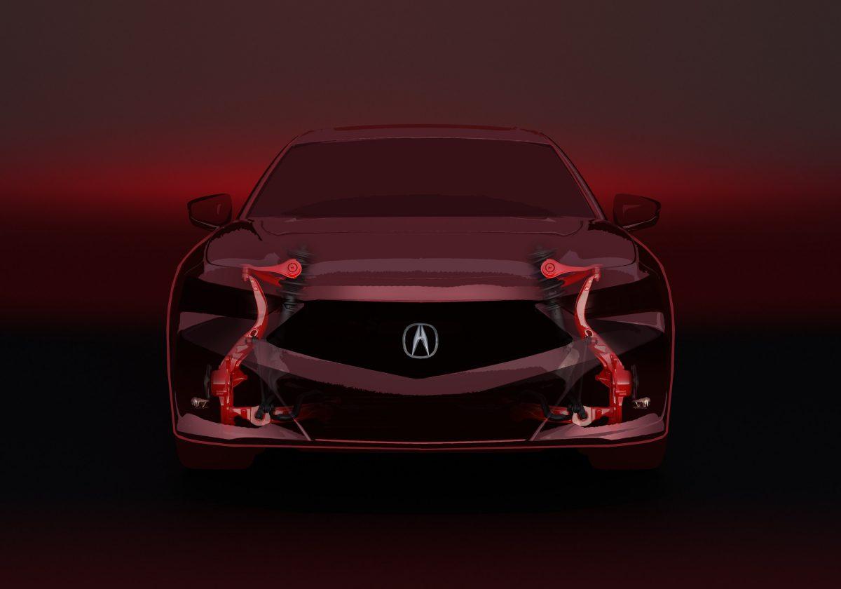 El Acura TLX 2021 está fabricado sobre una plataforma de sedán deportivo exclusiva con suspensión delantera de doble horquilla